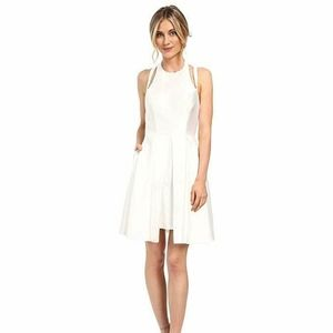 Faviana Women's Mikado w/ Overskirt White Dress